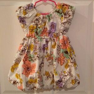 Floral puff skirt dress